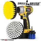 Drillbrush Pièce jointe Nettoyage Bateau Drill Nettoyage Kit d'accessoires Brosse jaune, blanc, bleu