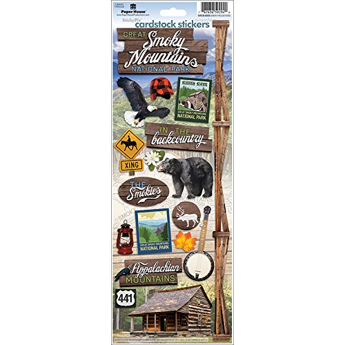 IONS stcx-0203e Great-Smoky-Mountains Karton Aufkleber (6er Pack) (Paper Crafts Halloween-dekoration)