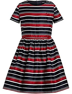 TOMMY HILFIGER Gestreiftes Kleid Stripe Cotton Sateen Dress 176