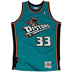 Mitchell & Ness Grant Hill # 33Detroit Pistons 1998–99Swingman NBA Camiseta turquesa