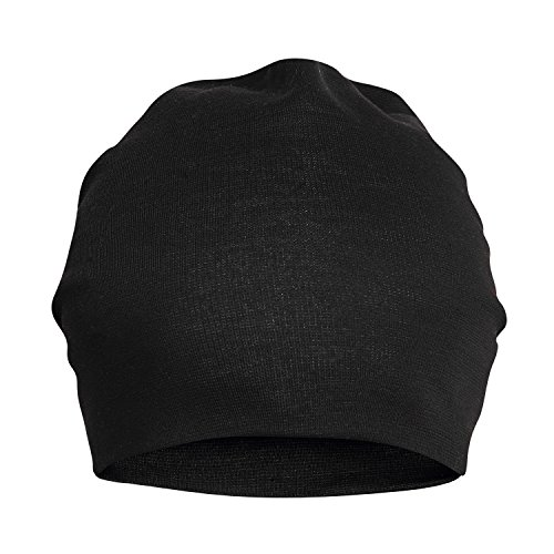 7c20fa5a3 FabSeasons Unisex Cotton Slouchy Beanie and Skull Cap (Black)