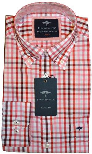 Fynch Hatton Herren Freizeit-Hemd Rot