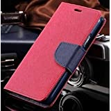 Thinkzy Artificial Leather Flip Cover Case for Samsung Galaxy M20 (Pink, Blue)