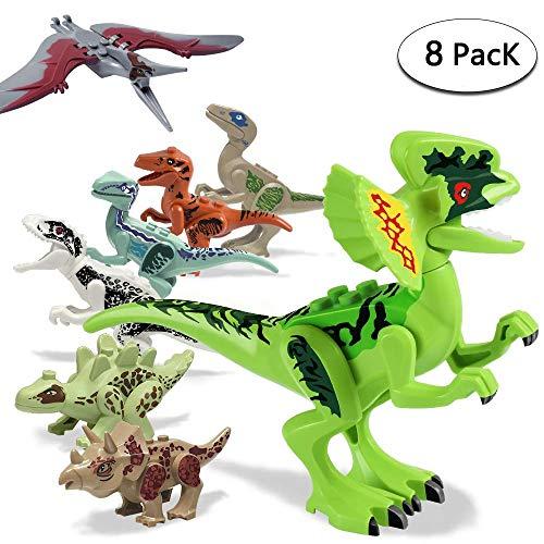 Sonnedorf Dinosaurier Figuren,Mini Dinosaurier Jurassic World Spielzeug 8ST Set Dinos für Kinder Kindergeburtstag Party Dekoration