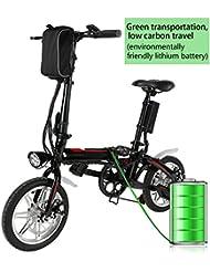 """Befied Mini Vélo Electrique 14"""" Pliable avec Batterie de Lithium"""