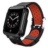 Uzinb Compatible con la cámara Inteligente Android Reloj GPS Bluetooth WiFi 1000mAh Deporte SmartWatch los Hombres de la Correa de Silicona
