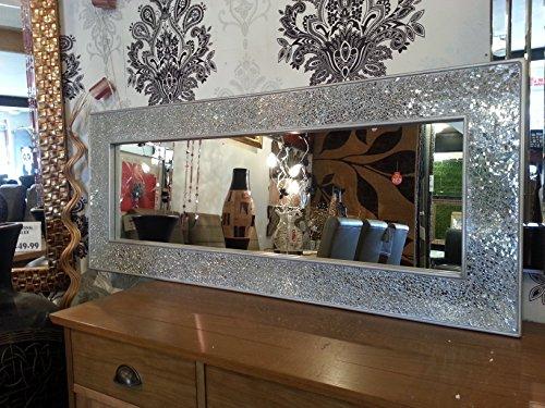 Glas Silber Rahmen Wandspiegel voller Länge 120x 50cm ()