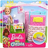 Barbie FXG83 Club Chelsea Playset with 6 Inch Blonde Doll, Bedroom with Working Trundle Bed, Teddy Bear and More, Multicolour