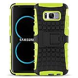 Cover Galaxy S8, JAMMYLIZARD [Alligator] Custodia Heavy Duty in Silicone TPU e Polimero per Samsung Galaxy S8, VERDE LIME