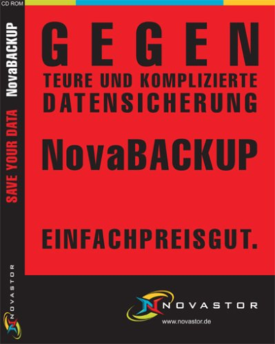 NovaBACKUP 7.3 Professional Edition - for Disk, CD-RW, DVD & Tape