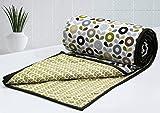 AURAVE Multi Petals Cotton 1 Piece Floral Reversible Dohar - Single , Green