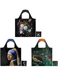 LOQI Masterpieces Museum Reusable Bags (Set Of 3), Multicolor