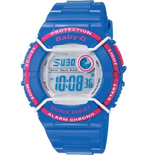 CASIO Baby-G BGD-120P-2ER - Reloj de mujer de cuarzo, correa de resina color azul claro (con alarma, cronómetro, luz)