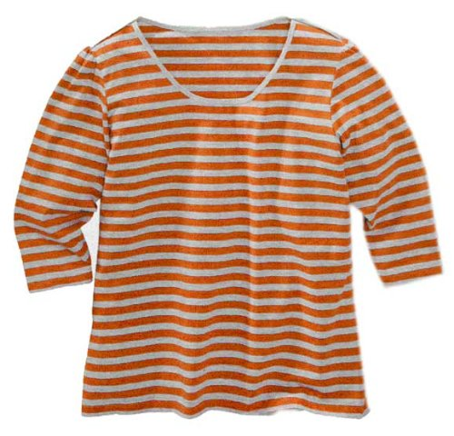 adonia mode Süsses Ringelshirt Shirt Streifen , Gr.44/46 - 56/58 , 3 Farben zur Auswahl Lila Grau