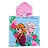 PONCHO Mare Frozen Elsa Anna Disney Asciugamano Accappatoio Poliestere MICROCOTONE CM. 50x100 - SE1737/2