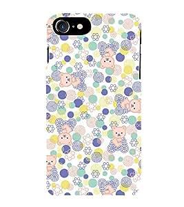 KIDDISH POLKA DOT AND TEDDYBEAR PATTERN 3D Hard Polycarbonate Designer Back Case Cover for Apple iPhone 7