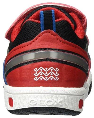 Geox Jr Gregg B, Sneakers Basses Garçon Rouge (Red/lt Bluec0540)