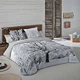 COTTON ART- Funda Nórdica TREE Cama de 150 (240x260cm)+ 2 FUNDAS DE ALMOHADA (45X80cm) MICROFIBRA Disponible para cama de 90, 105, 135, 150 y 180.