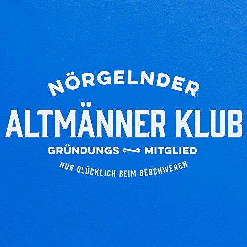 Nrgelnder Altmnner Klub Grndungs T-Shirt, Herren Royalblau