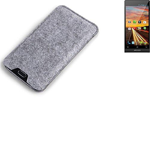 K-S-Trade Filz Schutz Hülle für simvalley Mobile Pico RX-484 Schutzhülle Filztasche Filz Tasche Case Sleeve Handyhülle Filzhülle grau