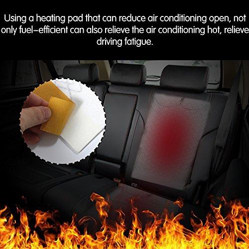 Riscaldamenti per sedili TiooDre 2 Pezzi Universale in Fibra di Carbonio seggiolino Auto Kit riscaldatore Sedile Cuscinetti Elemento coperture tappetini riscaldati Cuscino del Sedile per Auto
