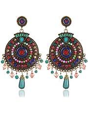 Youbella Bohemian Multicolor Metal Earrings For Women