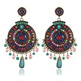 #4: YouBella Non Precious Metal Fashion Jewellery Bohemian Stylish Multi-Color Fancy Party Wear Earrings for Girls and Women