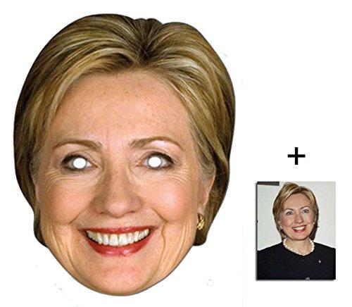 Hillary Clinton Amerikanischer Politiker Single Karte Partei Gesichtsmasken (Maske) Enthält 6X4 (15X10Cm) (Hillary Kostüm Clinton)