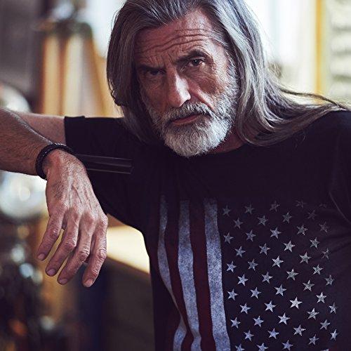 USA T-Shirt Herren AMERIKA FLAGGE schwarz Größe S-XXXL Schwarz