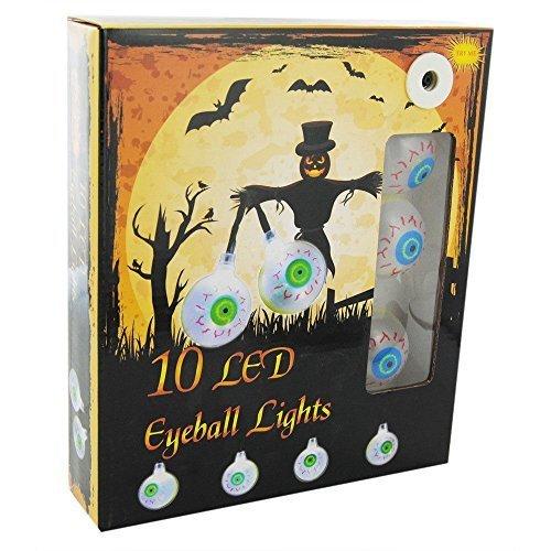 Scream Maschine 10 Weißen LED Batterienbetrieben Gruselig Augapfel Geformt Halloween Lichter