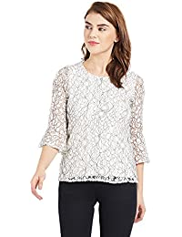 KRAUS Womens Lace Casual Top
