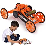 Engineering Stem DIY Car Assembly Gift Toy for Boys Kids & Adults - 4WD Electric Mechanical Construction Car Kit, Real...