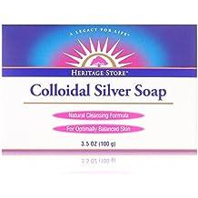 Heritage Store Colloidal Silver Soap, Bar, Rosemary (Carton) 3.5Oz