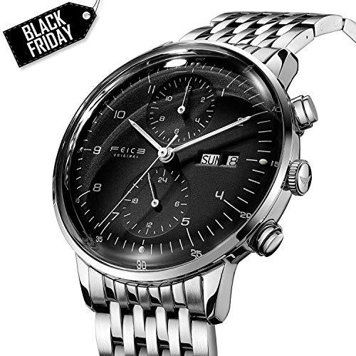 FEICE Uhren Mechanische Automatik Uhr Watch mit Gewölbter Mineralglas Multifunktions Klassisch...