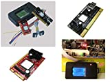 Kalea-Informatique Mainboard-Testkarte, Diagnosekarte (mit LC-Display, mit Schnittstellen für Notebooks und Desktop-PCs: PCI, Mini PCI, Mini PCIe, LPC, Version von 2014)