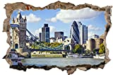 London Stadt Skyline City Wandtattoo Wandsticker Wandaufkleber D0308 Größe 100 cm x 150 cm