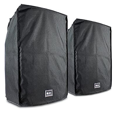 "2x QTX Sound Protective Water Resistant Mobile DJ 15"" Speaker Slip On Bag Covers"