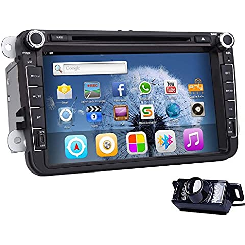?CALIENTE! 7 pulgadas Android 4.4.4 Todo-touch Tablet Car Stereo Radio Audio Quad Core capacitiva multi-pantalla t¨¢ctil de coches reproductor de DVD con GPS Navi internet WIFI / Juego de aire / espejo Link / Bluetooth / SD / USB / AV-IN / 1080p