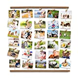 Uping Cornice Portafoto Multipla Cornice Foto Collage da Parete, Decorazioni per la casa Anniversario Matrimonio e Regalo (Colore Legno retrò)
