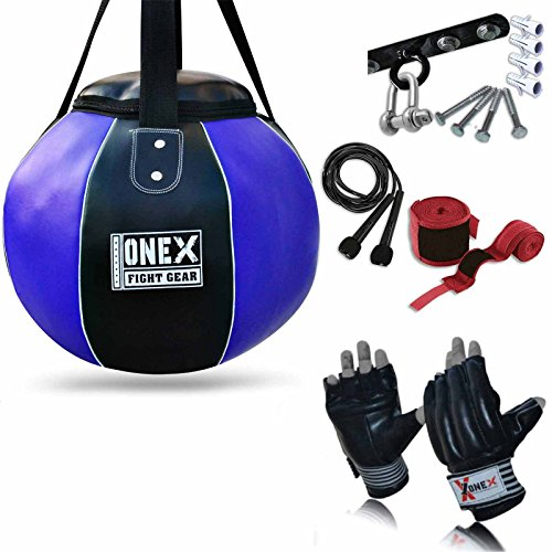 onex-new-leather-heavy-boxing-maize-body-punch-bag-free-chain-skipping-rope-mma-ufc-training-mauy-th