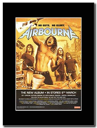 Airbourne-no Guts no Glory Magazine promo su una montatura nero