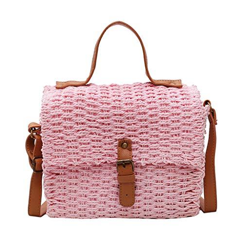 Mitlfuny handbemalte Ledertasche, Schultertasche, Geschenk, Handgefertigte Tasche,Damenmode Retro Gewebte Umhängetasche Einfarbige Handtasche Gewebte Tasche Strandtasche