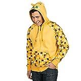Veste à capuche hoodie Minecraft Ocelot fermeture éclair jaune - L