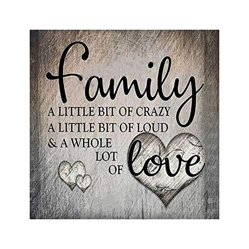 bismarckber Family Love Letter Runde Diamant Maler-Kits Full Drill DIY Strass eingeklebt Bild Stickerei Kreuzstich Kunst Craft