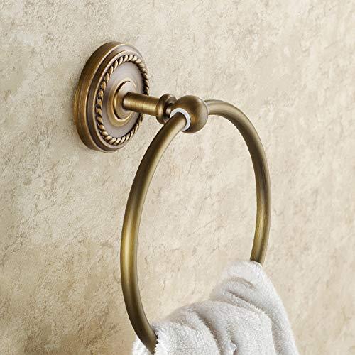 hring,Voll Kupfer Handtuchhalter,Europäische Runde Handtuchhalter, bügel Badezimmer handtuchregal-A 15cm(6inch) ()