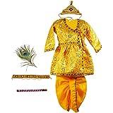 Pakhi Little Krishna Themed Krishna Costume Set With Accessories (5 - 6 Years, Bright Yellow)