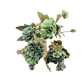zmigrapddn 1 Unidad de 5 Ramas de Flores Artificiales Coloridas para decoración de claveles para restaurantes, hoteles, hogares, Jardines, Bodas, Fiestas