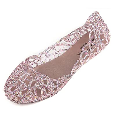 Hee Grand Damen Ballerinas Espadrille Schuhe 37 Rosa