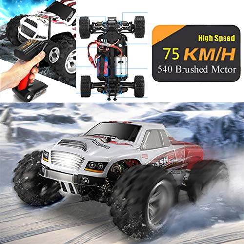 DingLong WL Toys A979-B - schneller RC Monstertruck 75 km/h schnell, wendig, voll digital proportional - 2.4 GHz RC Auto mit Allradantrieb - Maßstab 1:18, hoher Fun Faktor