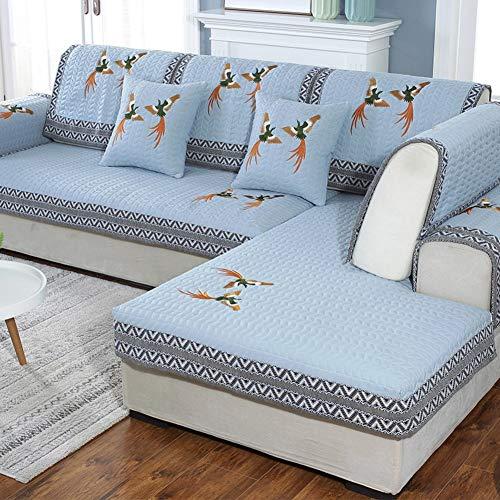 ZTMN Atmungsaktive Sofa Abdeckung, Anti Slip Couch Abdeckung Alle Saison Stretch Sofa Schonbezug Verdicken Teilmöbeln Schutz Für Haustier Hund-h 70x70 cm (28x28 Zoll) -